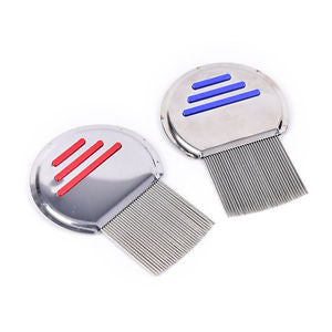 1xhair lice comb brushes terminator egg dust nit free removal stainless steelBBU