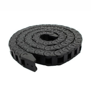 Black Plastic Drag Chain Cable Carrier 7 x 7 mm for CNC Router Mill Machine Tool