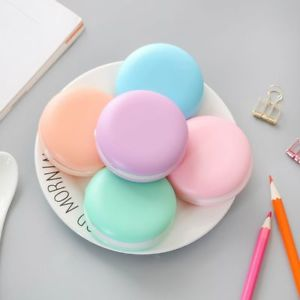 Random Student Office School Decoration Macaron Eraser Correction Tape