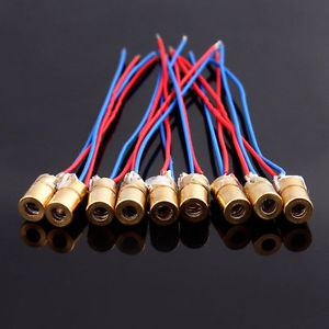 10Pcs Mini 650nm 5mW 5V Laser Dot Diode Module Head Brand New Hot Sell Pro US