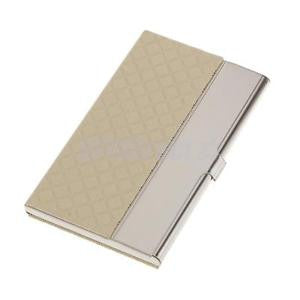 Alcoa Prime Stainless Steel Business Card Name ID Card Holder Case Organizer- White
