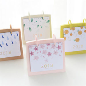 1x 2018 calendar piggy bank simple style Desk Paper Multifunction Organizer