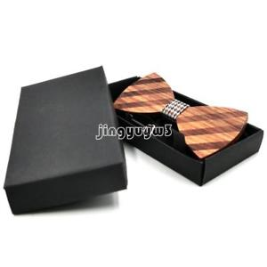Wooden Bow Tie Male Marriage Bow Ties For Men Women Wedding Butterfly Cravat