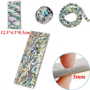 5mm Natural Abalone Block Acrylic Blade Handle Scales Jewelry Inlay Crafts 5x2''