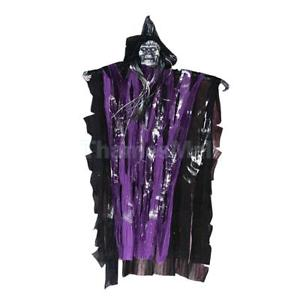 Halloween Decorative Haunted House Prop Spooky Scary Hanging Ghost -Purple