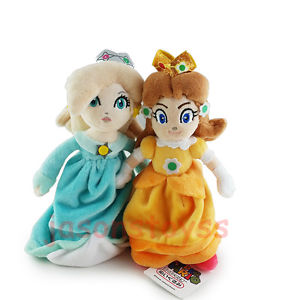 Alcoa Prime 2Pcs Super Mario Brothers 8'' Princess Daisy & Rosalina Stuffed Plush Toy Doll