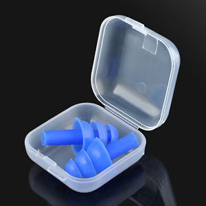 Silicone Ear Plugs Anti Noise Snore Earplugs Comfortable 1 pair For Study Sleep