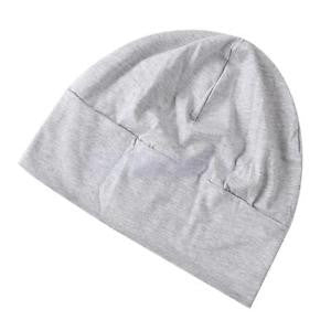 Alcoa Prime Adult Unisex All Cotton Night Cap Sleep Patch Sleep Solid Caps Light Grey
