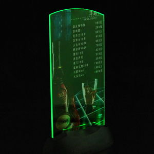Dual-Side Acrylic Led Light Table Menu Restaurant Card Display Holder Stand TY