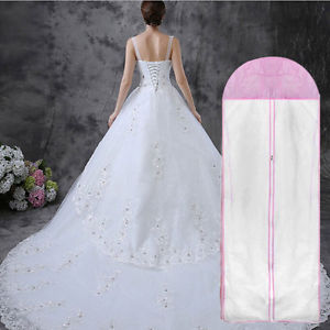Wedding Dress Bridal Gown Garment Dust proof Breathable Cover Storage Bag New.