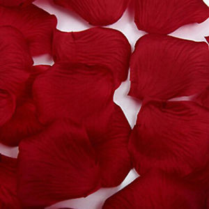 1000 Pcs Heart Shaped Red Rose Petals Wine Red Wedding Decoration DIY AD