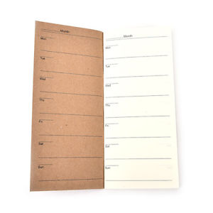 Cute Kraft Paper Cover Weekly Planner Notebook With Lined Paper For Kids Gift HU