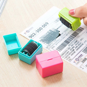 1Pcs Practical Guard Your ID Roller Stamp SelfInking Stamp Messy Code Security