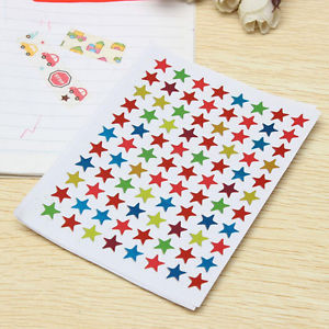 880Pcs Star Shape Stickers Labels For School Children Teacher Reward DIY EF