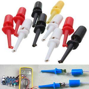 10Pcs Multimeter Lead Wire Kit Set Test Probe Hook Clip Grabbers Connector DIY