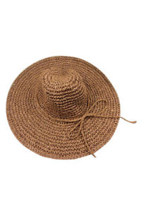 Alcoa Prime Hot cap big hat with brimmed hat folding beach vacation beach travel brown Y1C5