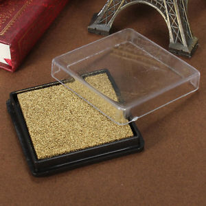 Ink pad stamp pad for wedding letter Document gold LW