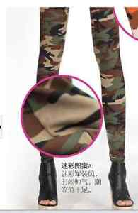 Hot Camouflage Fashion Womens Sexy Skinny Print Leggings Stretch Jeggings Pants