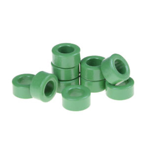 10Pcs Inductor Coils Green Toroid Ferrite Cores Anti-interference 10mm*6mm*5mmLA