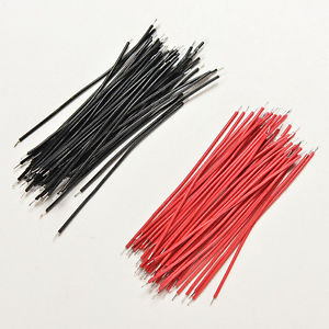 200Pcs Black Red Kit Motherboard Breadboard Jumper Cable Wires Set Tinned 5cm SP