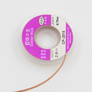 5ft Braid Solder Remover Wick 0.75m 2.0 mm Desoldering Copper Spool Wire