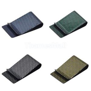 Money Clip Carbon Fiber Holder for 30 Folded Bills or Around 15 Cards Blue