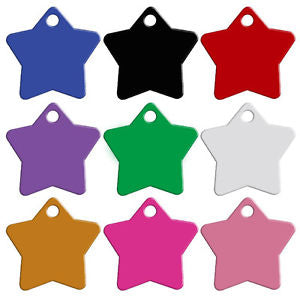 5 PCS Random Blank Alloy Star Pendant Dog ID Anti-Lost Pet Tag