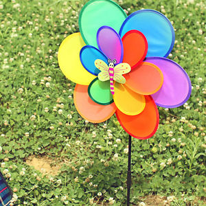Alcoa Prime Outdoor Rainbow Insect Windmill Home Garden Party Decoration Children Kid Toy