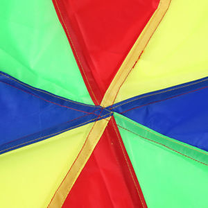 Foldable 2m Rainbow Parachute Toy with 8 Handles Kids Play Outdoor Games Grace