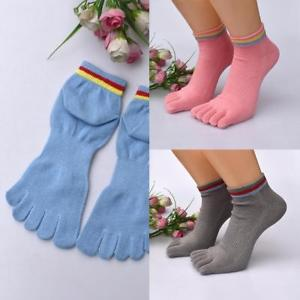 Alcoa Prime 1Pair Unisex Winter Warm Cotton Ankle High Thermal Five Finger Socks Toe  Pop