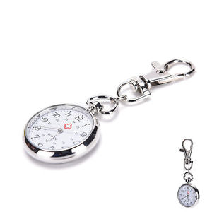 stainless steel Quartz Pocket Watch Cute Key Ring Chain New Gift Tb
