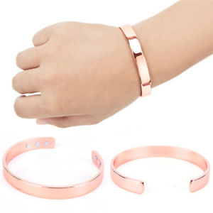 Magnetic Copper Bracelet Healing Bio Therapy Arthritis PainRelief Bangle Cuff
