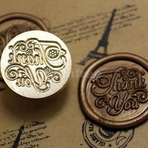 """Thank You"" Words Vintage Wax Seal Stamp Letters Invitation Sealing Label"