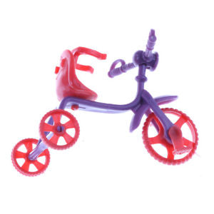 Alcoa Prime 2pcs Doll Tricycle Children Barbie Doll Accessories Kid girl Doll Toy HOT