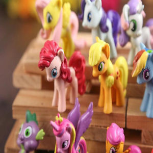 Alcoa Prime Lot of 12Pcs My Little Pony Cake Toppers PVC Action Figures Kids Toy Dolls Set