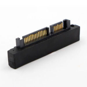 90D SATA 7+15 Pin 22 Pin Male to 22 Pin Female Right Angle Convertor Adapter