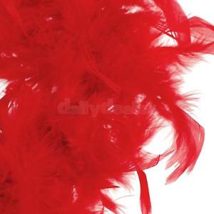 Alcoa Prime Red Feather Boa Fluffy Craft Decoration 6.6 Feet Long