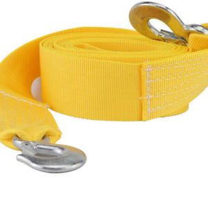 4M 5 Tons Tow Towing Pull Rope Strap Heavy Duty Road Recovery Car Van SUV Yellow