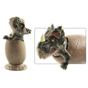 3Pcs Jurassic Dinosaurs Egg Model Animal Figure Toys Home Decor New