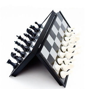 2016 Portable Travel Smart Games Mini Folding magnetic Chess Pieces Set