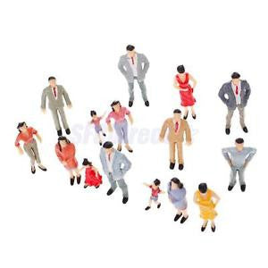 Alcoa Prime 20pcs Painted Model Passenger People Figures Train Diorama Scenery 1:25 G Scale