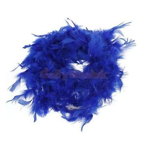 Alcoa Prime Royal Blue Feather Boa Fluffy Craft Decoration 6.6 Feet Long