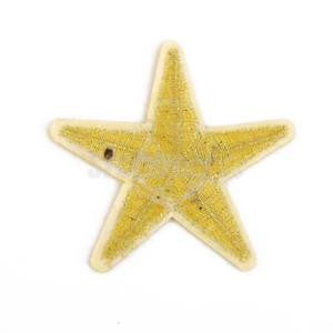 Alcoa Prime Yellow Sew on Iron-on Embroidered star patch / trimming / applique Craft 5cm