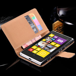Luxury Genuine Leather Flip Wallet Stand Case Cover Pouch For Nokia Lumia 1020