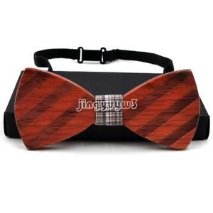 Wooden Bow Tie Men's Fashion Wedding Party Wood Bowtie Christmas Boyfriend Gifts