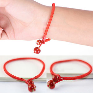 Lucky Bracelets Bead Red String Ceramic Woven Bracelets Charm Handmade Jewelry