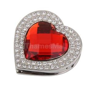 Red Heart Foldable Handbag Table Hook Hanger Rhinestone Decor Holder Gift