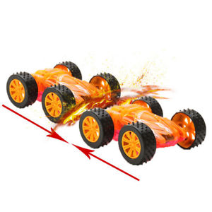 New Kids Double-Sided Car Model Electric Flashing Light Vehicle Toy Glowing Gift