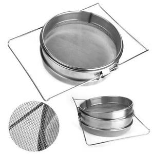 Dual Screens Stainless Steel Beekeeping Honey Sieve Strainer Filter Equipment
