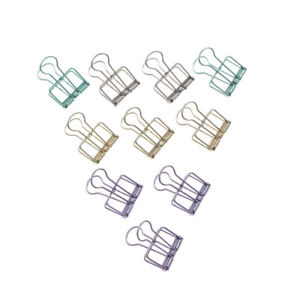 Unique Solid Color Hollow Out Metal Binder Clips Notes Letter Paper Clip Fad LK
